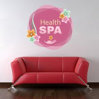 cik1353 Full Color Wall decal flowers health pink salon spa