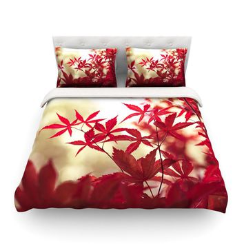 "Ann Barnes ""September Afternoon"" Red Leaves Featherweight Duvet Cover - Outlet Item"