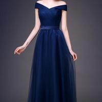 Picturesque Sleeveless Gown with Sash