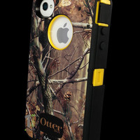 Custom Otterbox Defender Series Case for iPhone 4S AP Camo/Yellow