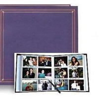Pioneer Photo Albums 300-Pocket Post Bound Photo Album for 4 by 6-Inch Prints, Bay Blue Leatherette Cover