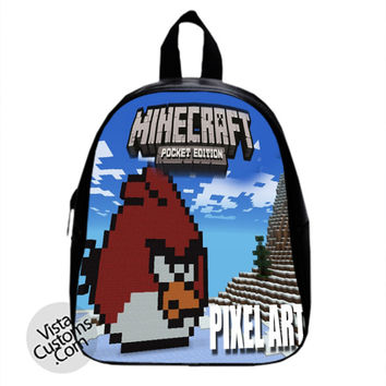MINECRAFT Angry Birds creeper New Hot School Bag Backpack