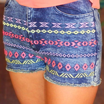 Native Trails High Rise Shorts