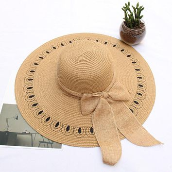 Womens Summer Big Brim Straw Hat