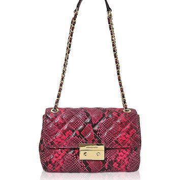 MICHAEL Michael Kors Womens Sloan Large Chain Shoulder Bag (Fuschia)