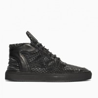 Mid Top Transformed Pyramid sneakers from F/W2015-16 Filling Pieces collection in black
