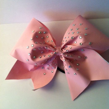 Pink Rhinestone Cheerleading Bow