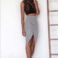 Slim Irregular Bodycon Skirt B0014440