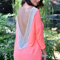 Turn Back Around Knit Top - Neon Coral