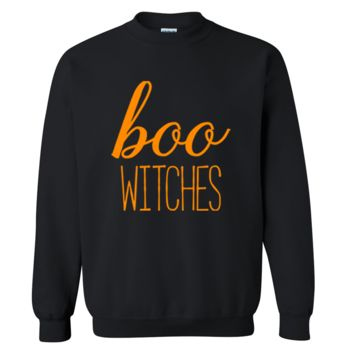 Boo Witches Halloween Sweater
