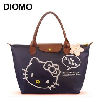 DIOMO Hello Kitty Bag Waterproof Large Beach Bags for Women Foldable Big Shopping Bag Multipurpose Tote Female sac