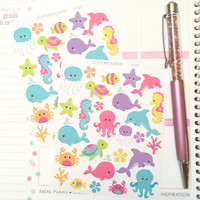 Sea Animal Planner Stickers - K123