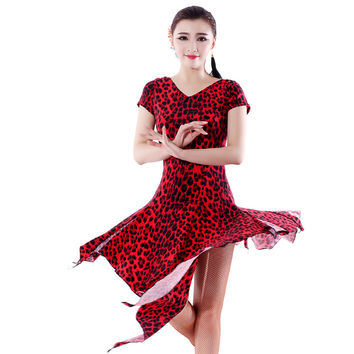 Phil 2015 short-sleeve Latin dance one-piece dress Latin dance leotard skirt Latin - 286