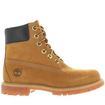 "Timberland Earthkeepers 6"" Premium - Wheat Nubuck Classic Lace-Up Boot"