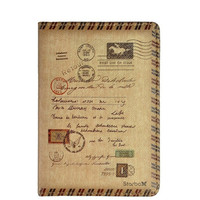 Unisex Vintage Leather Postage Travel Passport Cover Case Holder