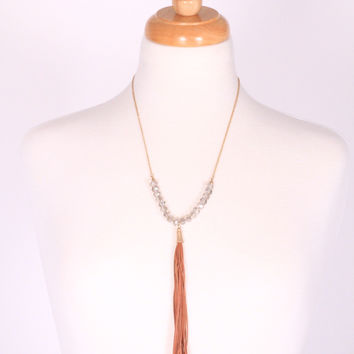 Trust You Tassel Necklace