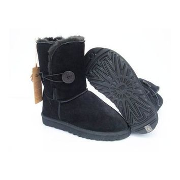 Uggs Boots Cyber Monday Bailey Button 5803 Black For Women 80 68