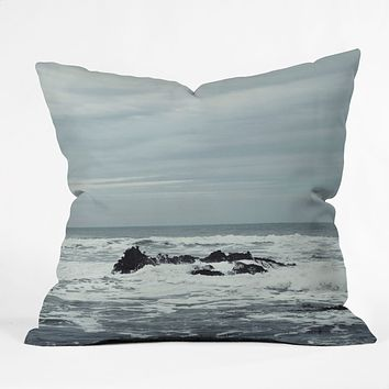 Chelsea Victoria Ocean Rock Crash Outdoor Throw Pillow
