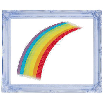 Rainbow Cross Stitch Pattern