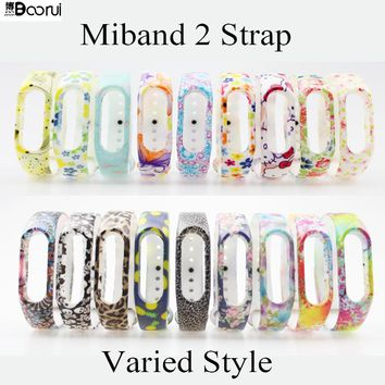BOORUI Replace mi band 2 strap colored Special  Strap for Xiaomi Mi Band 2 MiBand 2 Wristbands for Mi Band 2 for miband bracelet