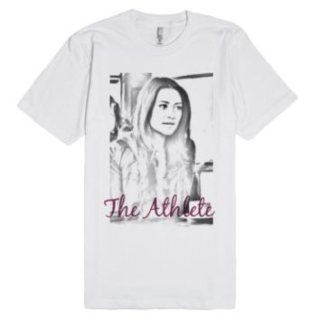 The Athlete-Unisex White T-Shirt