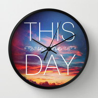 Psalm 118 This is the Day Wall Clock by Pocket Fuel