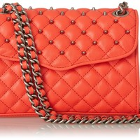 Rebecca Minkoff Quilted Mini Affair Cross Body With Studs,Hot Red,One Size
