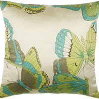 """Printed Pattern Teal Pillow Cover (18"""" x 18"""")"""