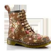 1460 WOMENS TAUPE VICTORIAN FLOWERS