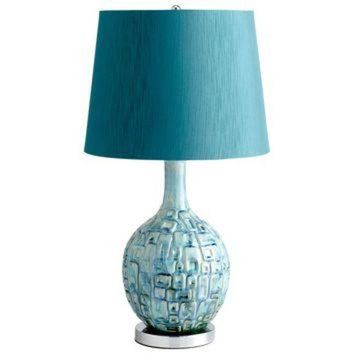CREYUG7 Jordan Ceramic Teal Table Lamp by Cyan Design