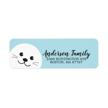 Cute Seal Winter Holiday Address Label