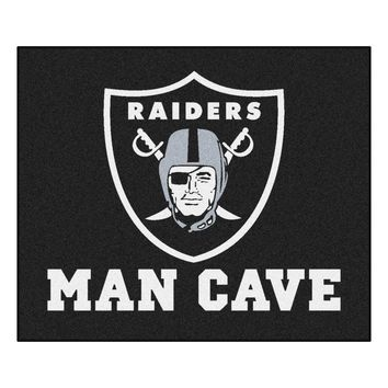 Oakland Raiders Man Cave Tailgater Rug 5x6