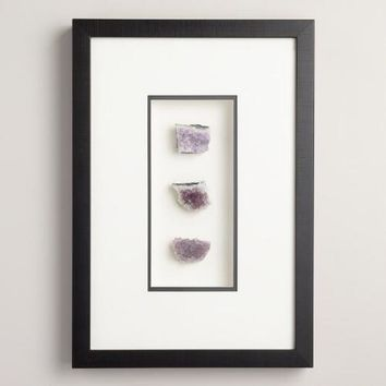 Amethyst Trio Shadowbox Wall Decor