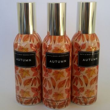 3 Bath & Body Works AUTUMN Room Spray 1.5 oz