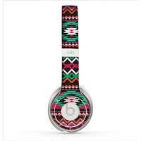 The Vector Green & Pink Aztec Pattern Skin for the Beats by Dre Solo 2 Headphones