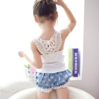 Baby Girls Candy Color Summer Sleeveless Vest Tops Blouse Shirt