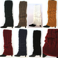Cable Knit Leg Warmers: 7 colors