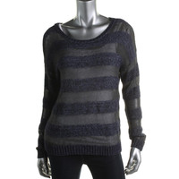 INC Womens Striped Long Sleeves Pullover Sweater