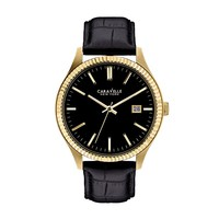 Caravelle New York by Bulova Watch - Men's Leather (Black)