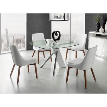 Casabianca Home URBAN Collection High Gloss White Lacquer  CB-F2170 Dining Table