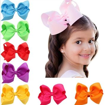 2017 Children accessories 12cm big bow girls hair barrette 5inch baby cute hair accessories children hair clips hairpin headwear