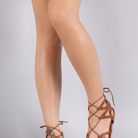 Ankle Wrap Corset Lace Up Flat Sandal