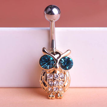 Illuminati New Arrival Owl Piercings Navel Belly Button Ring
