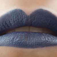 Bewitching Hour : a bold, semi-matte, opaque, vegan, dark midnight blue lipstick