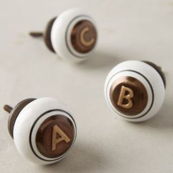 Cachet Knob by Anthropologie in Brown Motif Size: