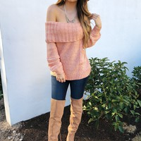 It's A New Day Sweater: Peach