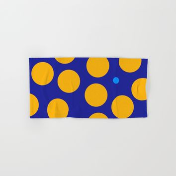 yellow dots Hand & Bath Towel by netzauge