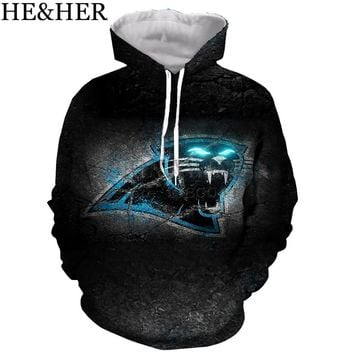 New desgin Carolina Panthers hoodies men women pullovers 3D printed cool sweatshirts hip hop casual streetwear tops fashion
