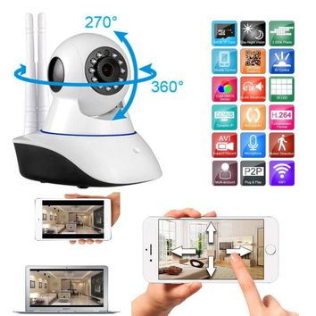 720P HD Double Antenna WIFI Security IP Camera Alarm System