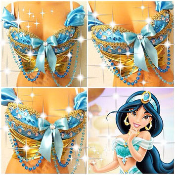 Reserved for Christina: Princess Jasmine Rave Bra